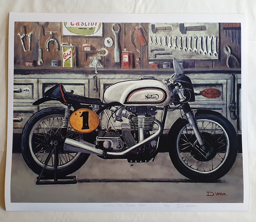 poster tableau moto