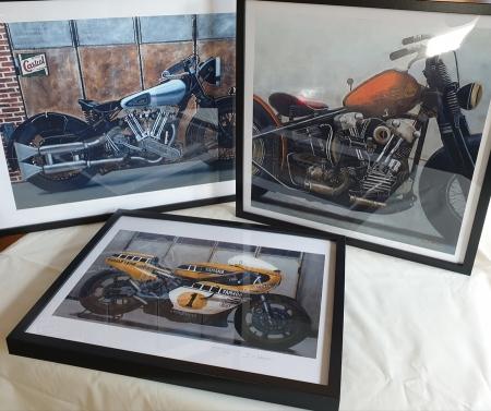 affiche tableau moto
