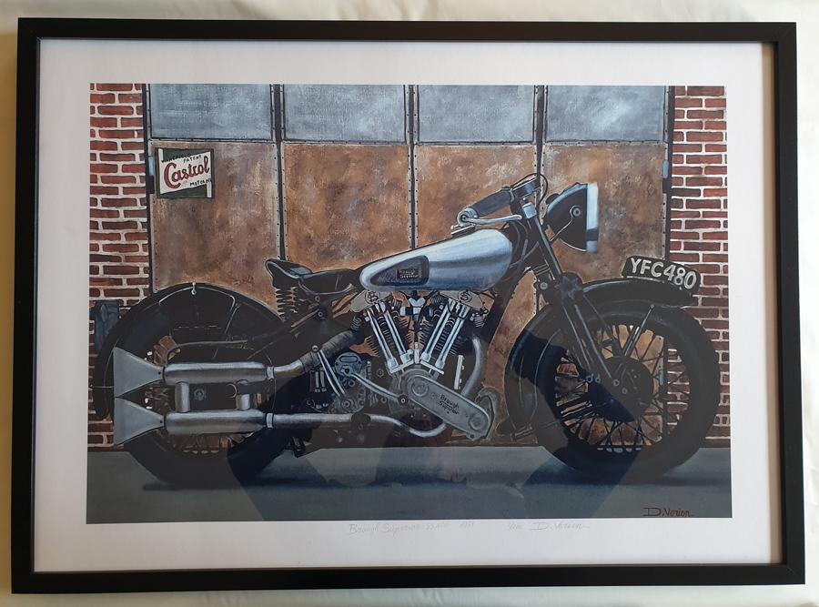 tirage d'art tableau moto