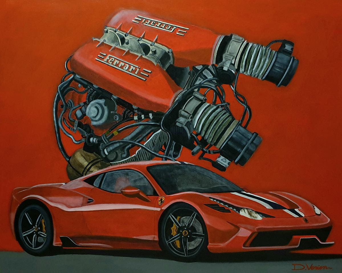 Ferrari 458 Italia moteur 458 V8 4,5l