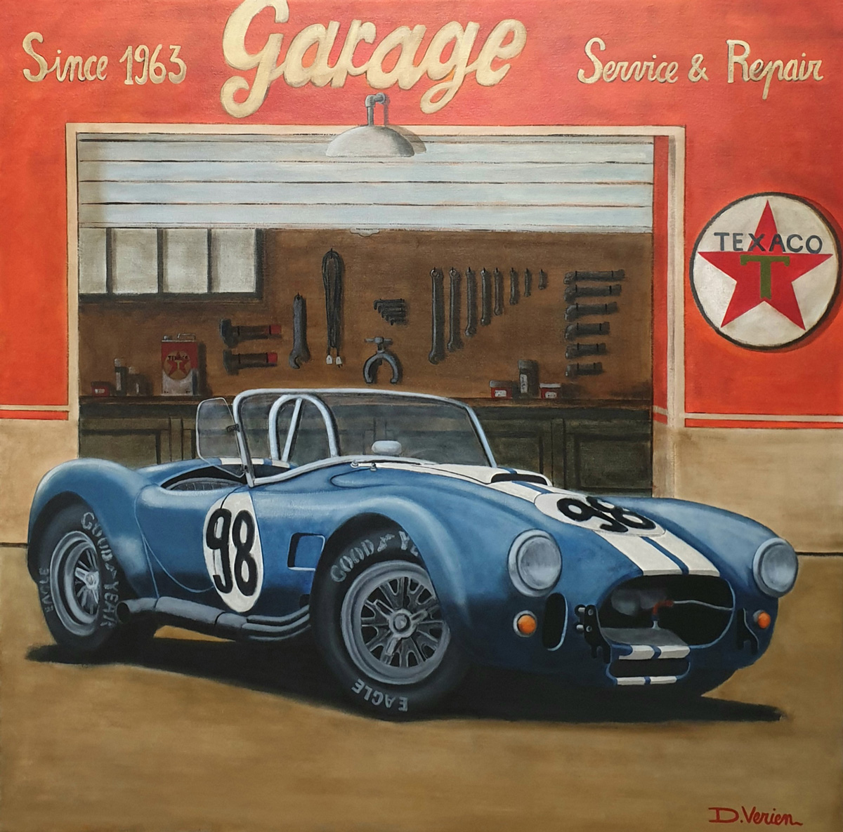 Cobra 427 Shelby Garage Texaco -1