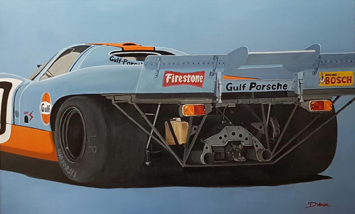 Porsche 917 Gulf  Vue arrière