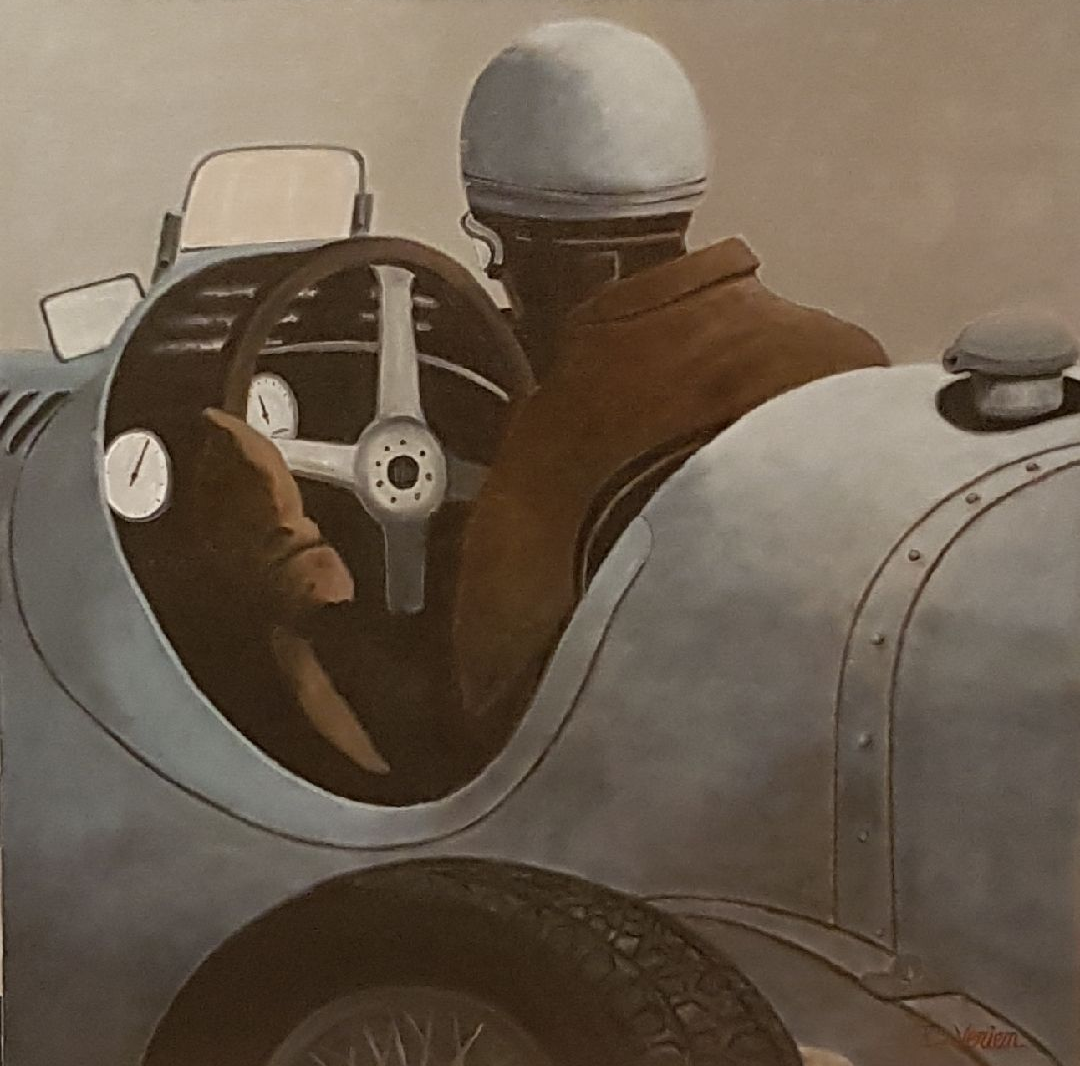 Bugatti, gallery race cars paintings, D.VERIEN