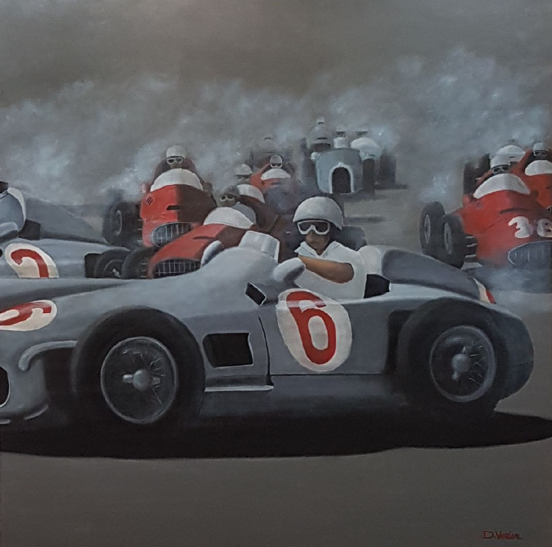 Mercedes, gallery race cars paintings, D.VERIEN