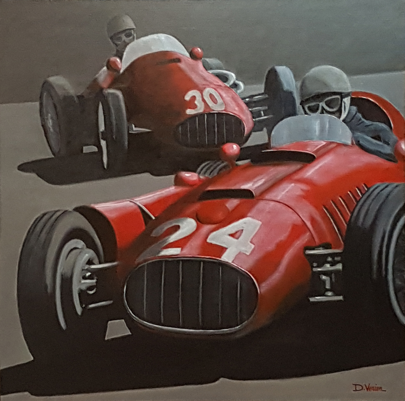 Maserati,tableau verien, gallery race cars paintings, peinture voiture
