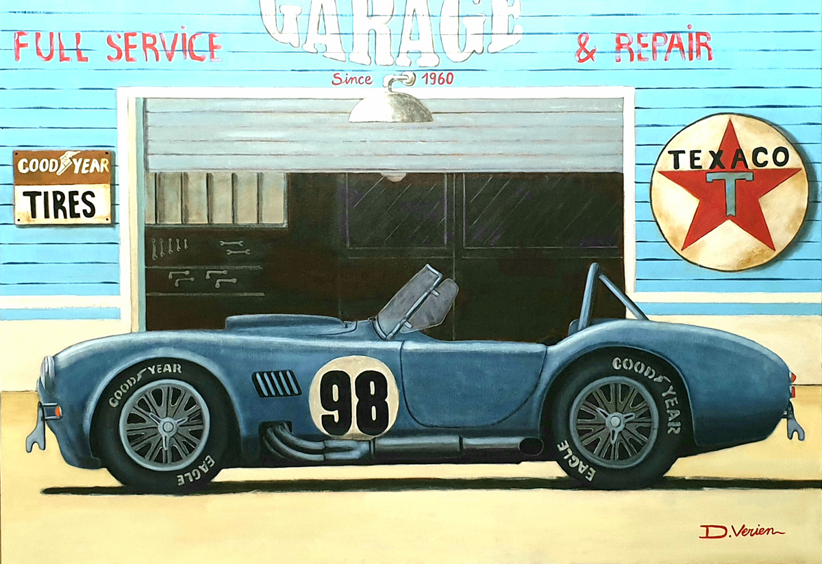 Cobra 427 Shelby, Garage Texaco