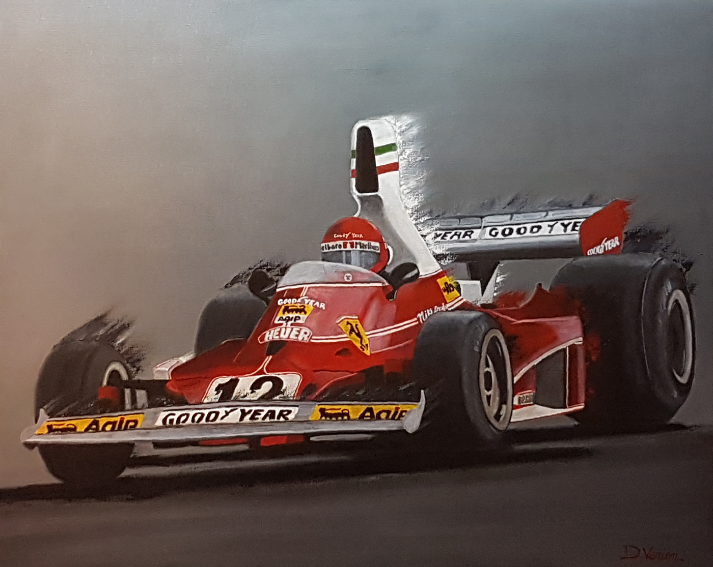 F1, Ferrari, Niki Lauda, peinture F1