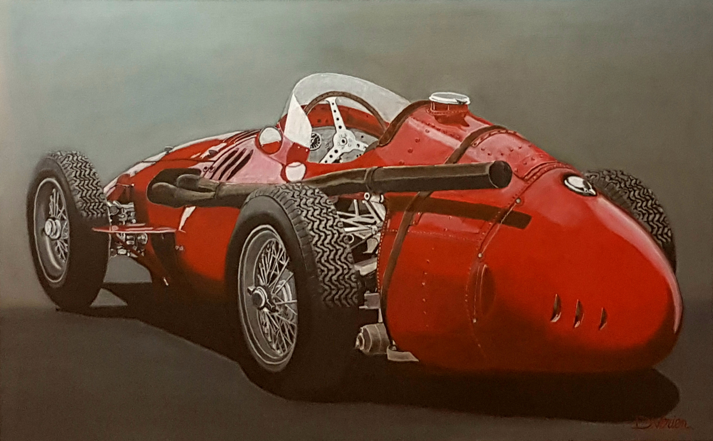 Maserati, maserati 250 F,tableau verien, gallery race cars paintings, peinture voiture
