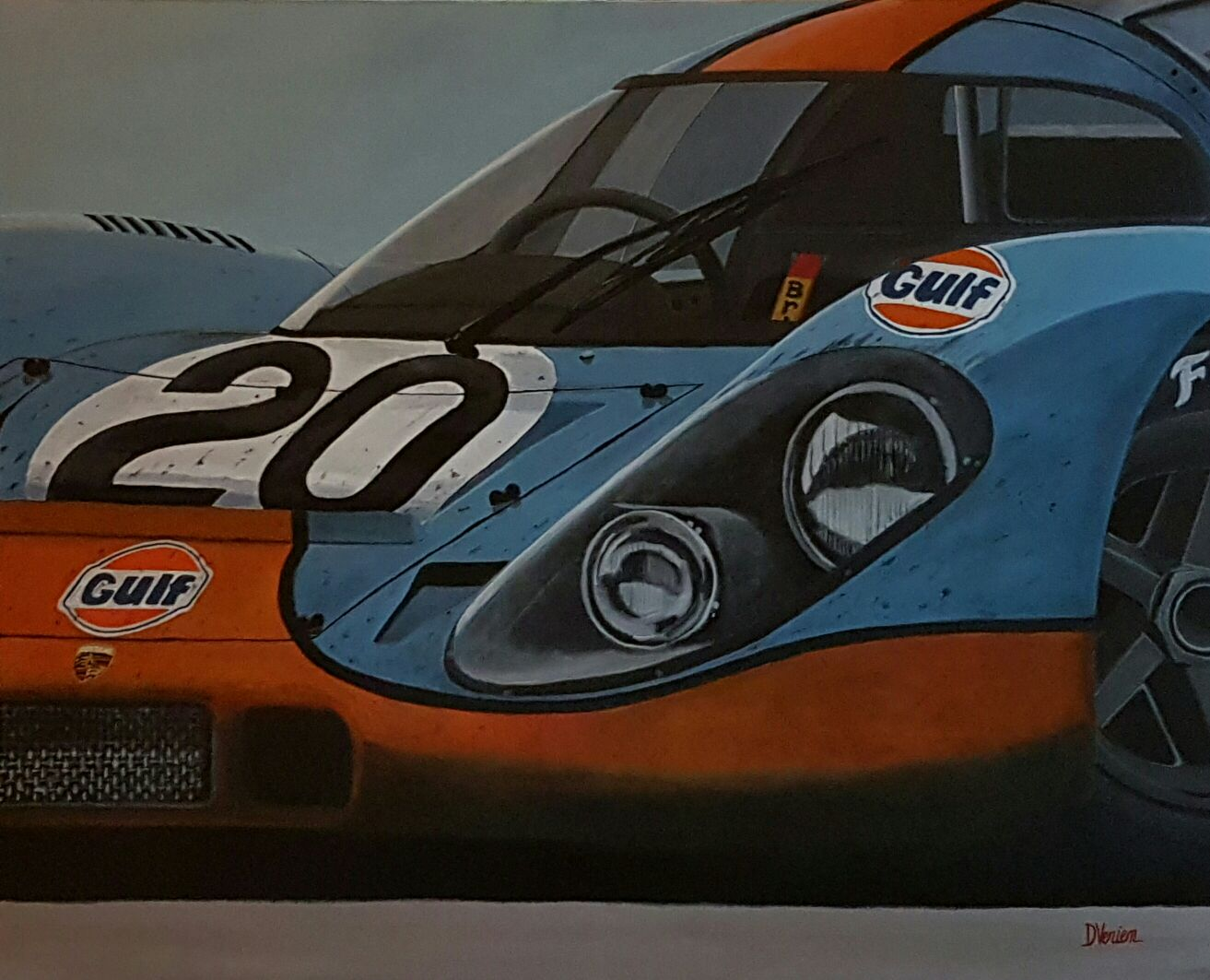Porsche 917 Le Mans 1970, Porsche 917 Gulf, gallery race cars paintings