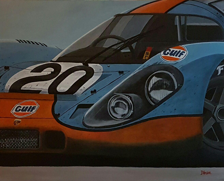 Porsche 917 Le Mans 1970, Porsche 917 Gulf, gallery race cars paintings